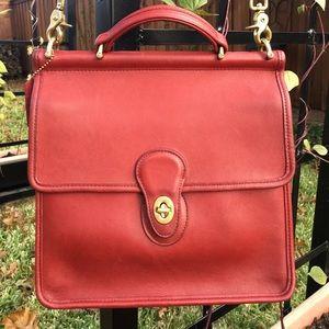 Vintage Coach Red Willis bag #H6C-9927 EUC