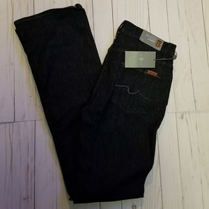 NWT 7FAM MID RISE BOOTCUT IN NEW RINSE