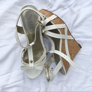 White Guess Wedges
