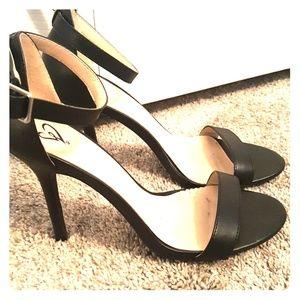 Windsor black ankle strap heels