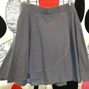 Torrid skirt acid wash faux wrap skirt