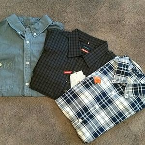 Other - Three Mens Button Up Shirts M/L NWT
