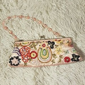 Handmade sequin beaded bag kawaii vintage purse