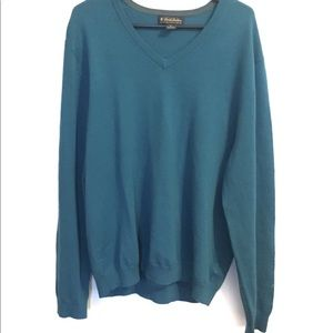 Brooks Brothers Teal V-Neck Sweater