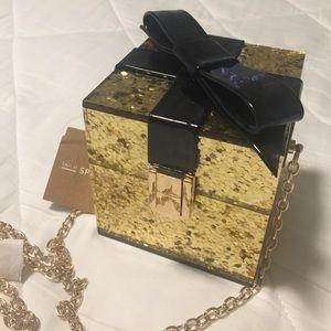 ALDO Gold Giftbox Crossbody NWT