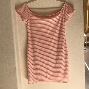 Pink body con dress