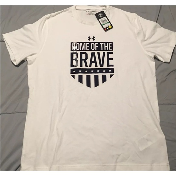 952d9d9a Under Armour Shirts | Mens Ua Home Of The Brave Tshirt | Poshmark