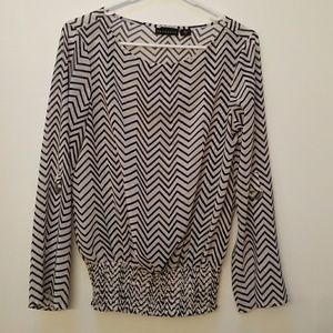 Metaphor Chevron Blouse