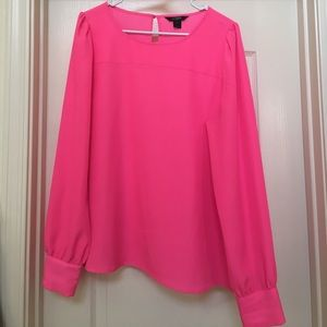 J. Crew hot pink blouse