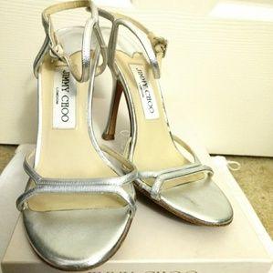 Jimmy Choo silver sandals