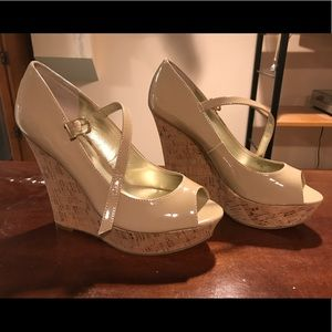 Beige Guess wedges