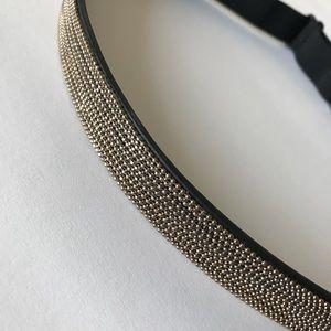 NWOT BCBGmaxazria Belt Metallic beaded belt