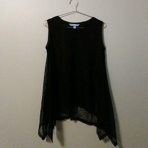 Vera Wang Black Lace Flowy Top