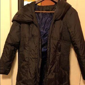 Black bubble hooded coat