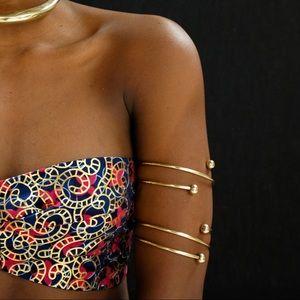 Jewelry - [SOLD] Swirl Arm Cuff