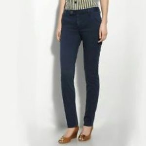 TORY BURCH super skinny jean with tab front