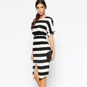 * SALE * Asos Striped Slit Dress