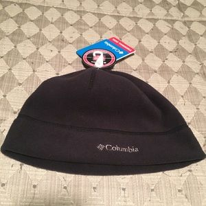 Columbia Thermal Coil Black Beenie- New With Tag!