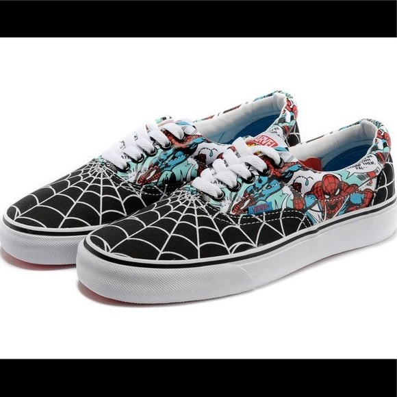Marvel Spider-Man Vans size 8