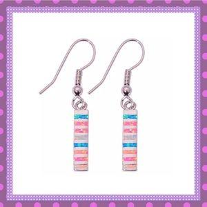 🎀White/Blue/Pink Opal Silver Dangle Earrings🎀