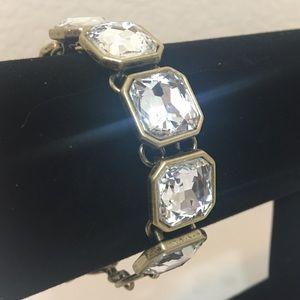 Retro Glam Square-Cut Crystal Bracelet NEW