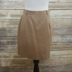 Ralph Lauren lined khaki pencil skirt
