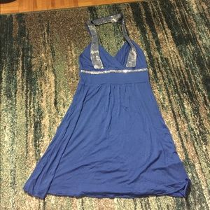 Blue Tunic/Dress with silver sequence