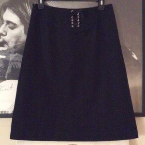 Wool J.Crew A-Line Corset Back Skirt