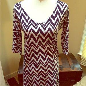 Lilly Pulitzer Navy/White 3 Quarter Sleeve Dress