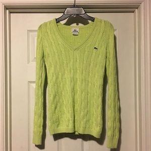 Lacoste sweater light green women's 34