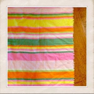 "Huge 42""Colorful Scarf, Wrap, Shaw, Vintage Wrap"
