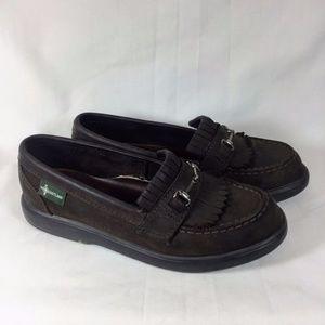 Eastland Dark Brown Leather Moccasins Loafers 7.5M