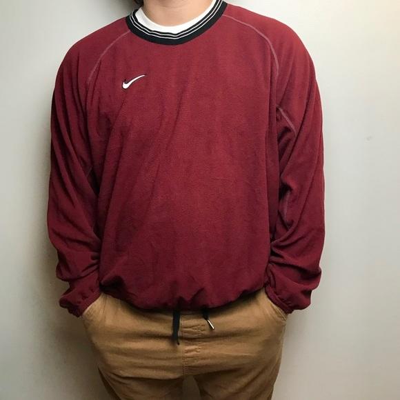 be3cc4f5b Vintage Nike Red Fleece V-Neck Pullover Mens Large.  M_5a0b7aaefbf6f9976100ef6b