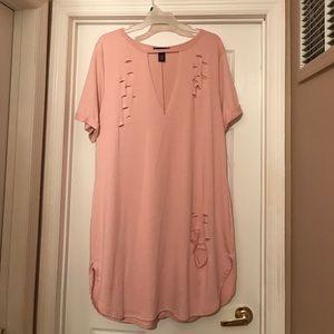 Distressed T-shirt Dress