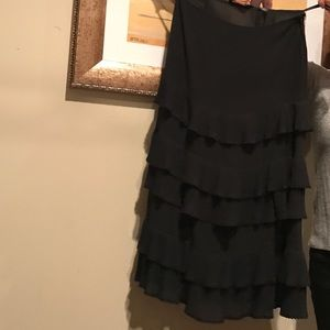 Black Express tiered skirt. Size 7/8
