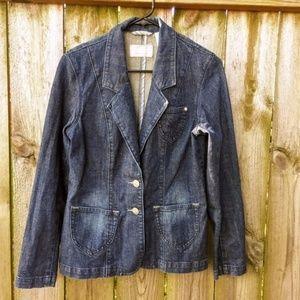 Levi's Tailored Stretch Denim Jacket Sz M Dk Blue