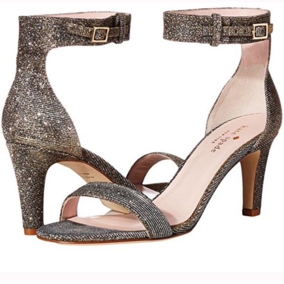 0b5f973378ea  75⬇ Kate Spade Silver Gold Elsa Heels