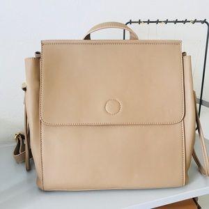 Handbags - Vegan Leather Minimalist MiniBackpack Shoulder Bag
