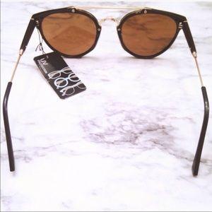 Aly Posh Boutique Accessories - Mirrored Sunnies- Black & Gold
