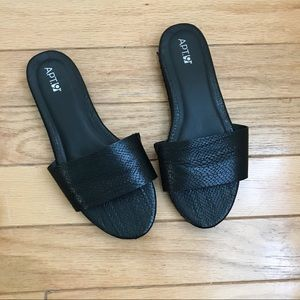 Apt. 9 Faux Leather Sliders
