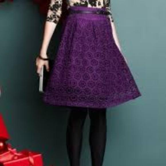 341e9752b garnet hill Dresses & Skirts - GARNET HILL Lace A Line Skirt 8