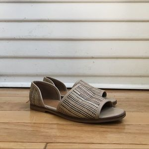 Land's End Woven Cut-Out Flats