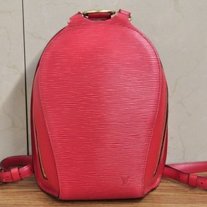 Louis Vuitton Mabillon Epi Leather Backpack  RED
