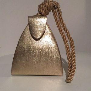 Vintage Gold Mini Evening Bag Purse Wristlet