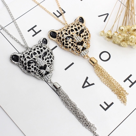 Trend Setter Diva Jewels! Jewelry - Long Leopard Tassel Chain Necklace