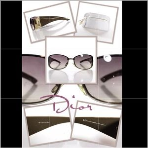 Dior Sunglasses with Gold Frames & Gradient Lense
