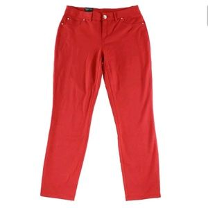 NWT INC RED STRETCH CURVY FIT SKINNY PANTS 14L