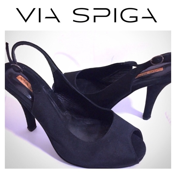 Via Spiga Shoes - Via Spiga Peep Toe Slingback Pumps