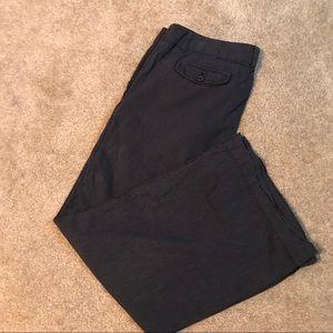 Navy pinstriped pants