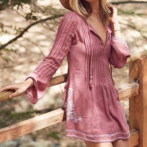 TULAROSA Embroidered Tunic Dress